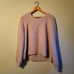 Aerie   Super Cozy Wooly Slouchy Dropped Shoulder Cropped Sweater